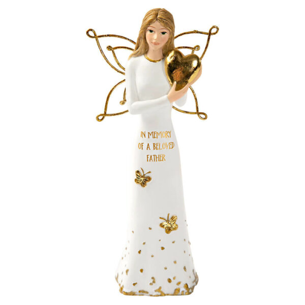 """Beloved Father - 5.5"""" Angel Holding a Heart"""